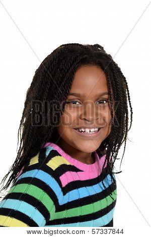 portrait little black girl