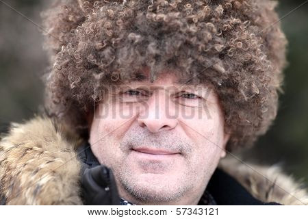 Man Posing In Caucasian Hat