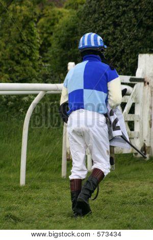 Jockey Walking