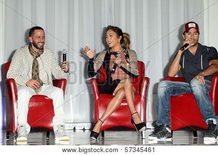 Yandel, Jennifer Lopez, Enrique Iglesias at the Jennifer Lopez and Enrique Iglesias Summer Tour 2012 Press Conference, Blvd. 3, Hollywood, CA 04-30-12