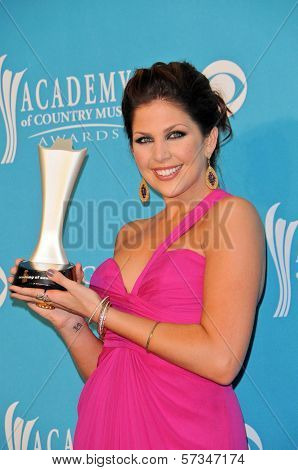 Hillary Scott  at the 45th Academy of Country Music Awards Press Room, MGM Grand Garden Arena, Las Vegas, NV. 04-18-10