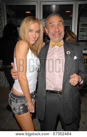 Paula Labaredas and Lloyd Kaufman at the 35th Troma Anniversary Event, New Beverly Cinema, Los Angeles, CA. 04-23-10