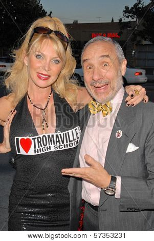 Shelley Michelle and Lloyd Kaufman at the 35th Troma Anniversary Event, New Beverly Cinema, Los Angeles, CA. 04-23-10