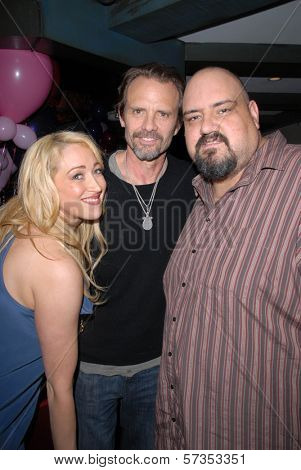 Jennifer Blanc-Biehn, Michael Biehn and Travis Romero at Jennifer Blanc-Biehn's Birthday Party, Sardos, Burbank, CA. 04-23-10