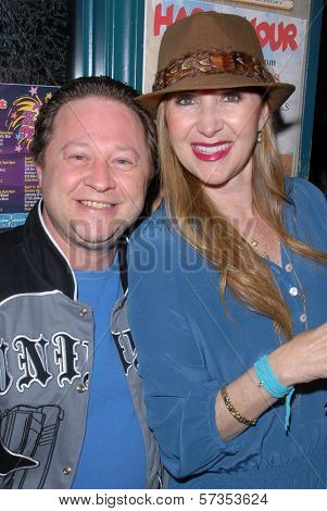 Scott Schwartz and Jenise Blanc at Jennifer Blanc-Biehn's Birthday Party, Sardos, Burbank, CA. 04-23-10