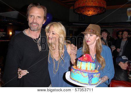 Michael Biehn, Jennifer Blanc-Biehn and Jenise Blanc at Jennifer Blanc-Biehn's Birthday Party, Sardos, Burbank, CA. 04-23-10