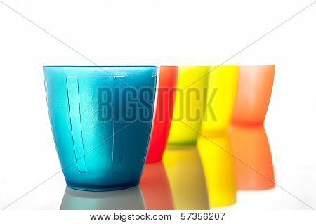 Plastic Multi-colored Glasses