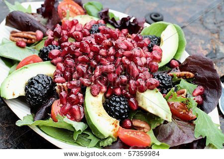 Fresh Pomegranate And Avocado Salad