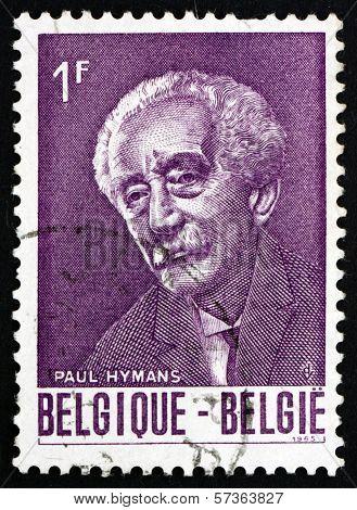 Postage Stamp Belgium 1965 Paul Hymans, Politician
