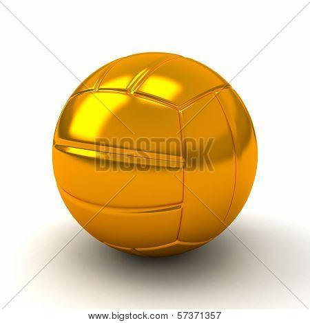 Golden volleyball ball, 3d