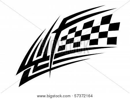 Racing tattoo in tribal style
