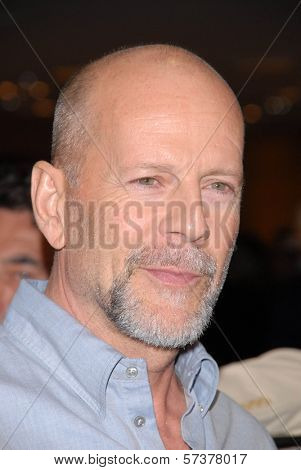 Bruce Willis at a celebration of Jerry Weintraub's New Book