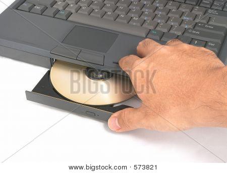 Hand Closing CD-Rom Drive door