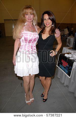 Laurene Landon and Patricia Kara at the Pasadena Rock'n Comic Con, Pasadena Convention Center, Pasadena, CA. 05-28-10