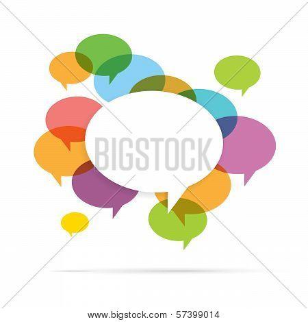 Colorful Speech Bubble Copyspace