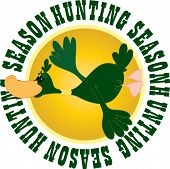 Vector illustration of the hunting season concept poster