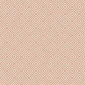 White Geometric Pattern on Beige, seamless pattern poster