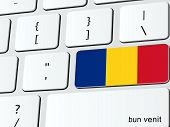 Welcome to Romania computer icon keyboard illustration poster