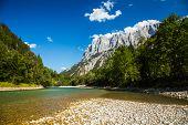 The Kaprun reservoir in the high Alp mountains in Austria poster
