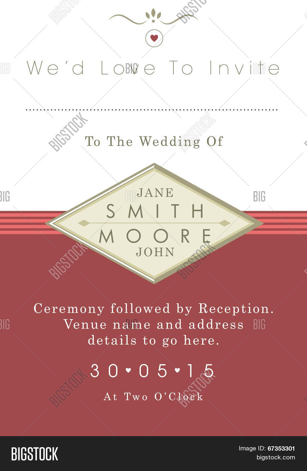 Wedding Invitation Vector & Photo (Free Trial) | Bigstock