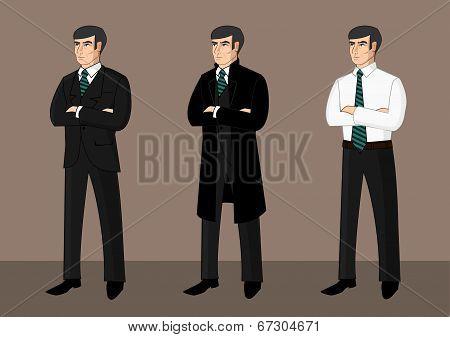 Collection of cartoon businessmen