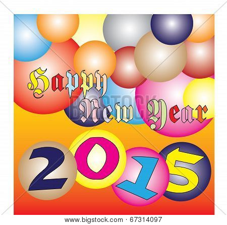 Happy New Year 2015 Colorful Ball Festival