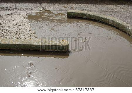 Sewage Water Sludge Settle Mechanism Plant