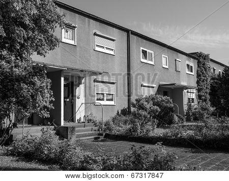 Black And White Siedlung Roemerstadt