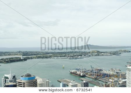 View On Auckland Harbor