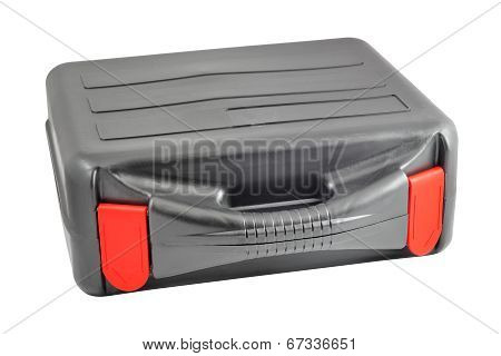 Plastic black case with red tabs