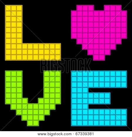 8-bit Retro Pixel Love Heart