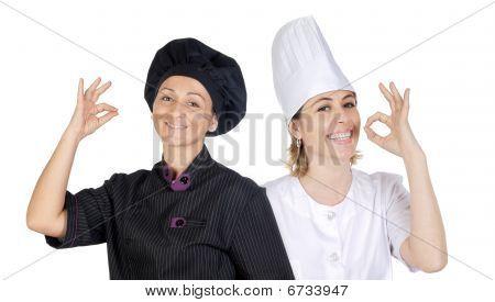 Teamwork Of Chefs