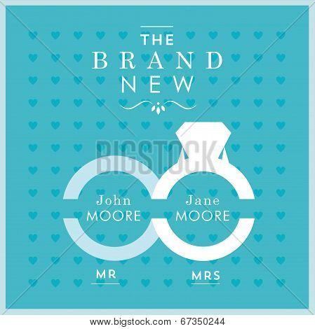 Ring themed wedding card