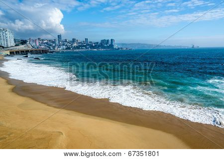 Beach And Blue Water