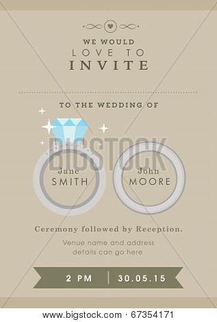 Wedding invitation wedding ring themes