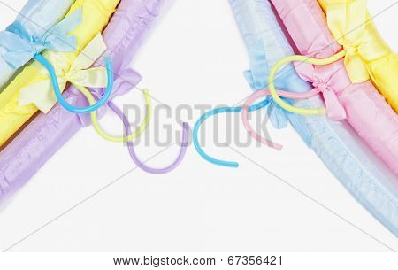 Beautiful hangers close up