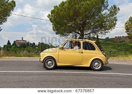 Vintage Tuned Car Fiat 500