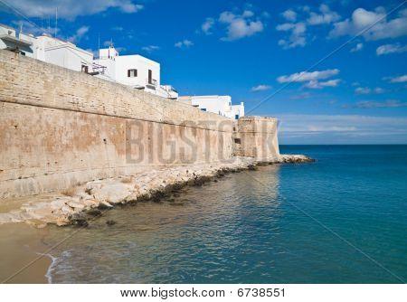 Ancient walls of Monopoli. Apulia.