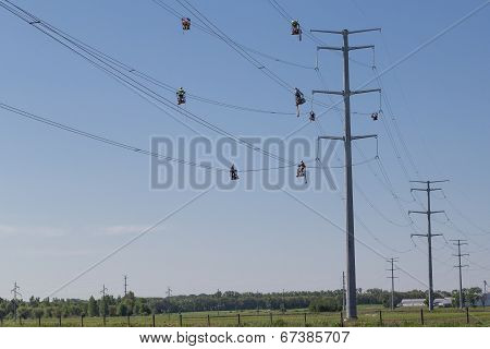 High Wire Line Workers