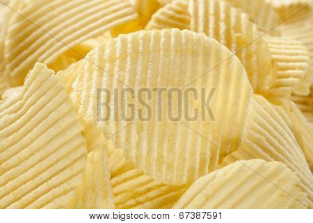 Unhealthy Crinkle Cut Potato Chips