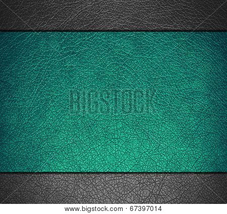 Teal green and gray leather texture background