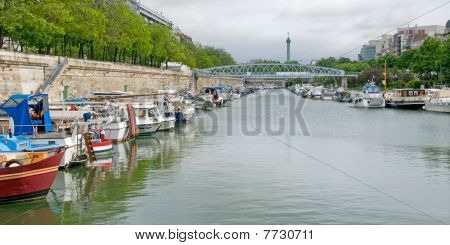 Riverboats on the St. Martin Canal, Paris