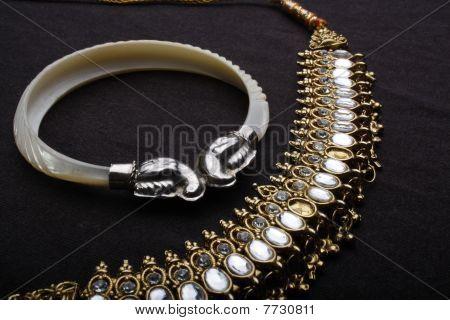 white bracelet for hand