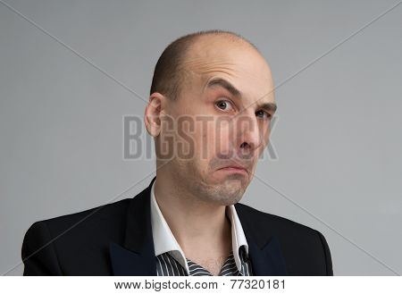 Skeptical Businessman