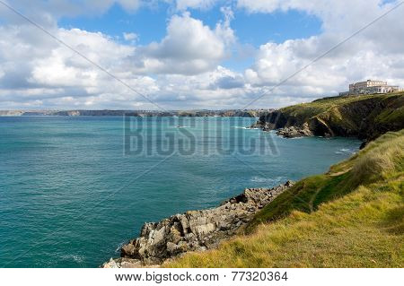 Newquay coast North Cornwall England UK