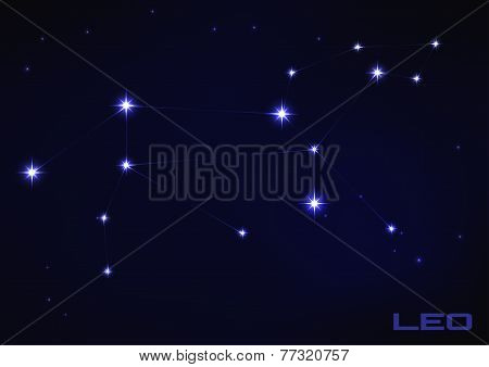illustration of Leo constellation