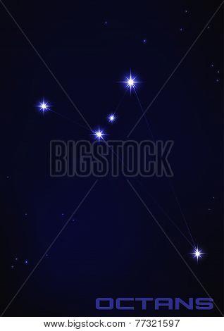 illustration of Octans constellation