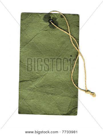 Green vintage label for design