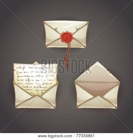 Old cartoon letter
