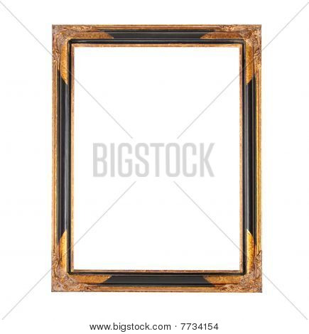 Frame with gilded cornerplates